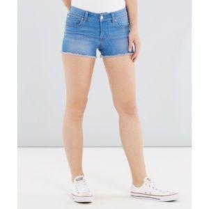 Bright Blue Bootlegger Cut Off Shorts, 25